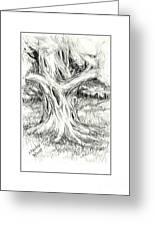 Scary Tree Greeting Card