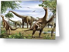 Scelidosaurus, Nothronychus Greeting Card