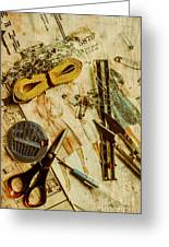Scene From A Fifties Craft Room Greeting Card