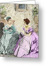 Scene From Anthony Trollope's Novel He Knew He Was Right Greeting Card