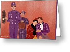 Scene From Grand Budapest Hotel Greeting Card