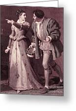 Scene From Much Ado About Nothing By William Shakespeare Greeting Card