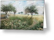 Scene From Rhine Greeting Card