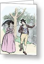 Scene From Sense And Sensibility By Jane Austen Greeting Card