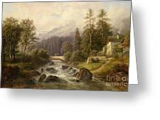 Scene From Weyer Upper Austria Greeting Card