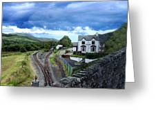 Scene In Snowdonia National Park In Wales Greeting Card