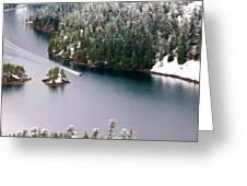 Scene Over Diablo Lake Greeting Card