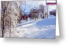 Scenery Around Timberline Ski Resort West Virginia Greeting Card