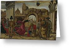 Scenes From The Life Of Saint Vincent Ferrer Greeting Card