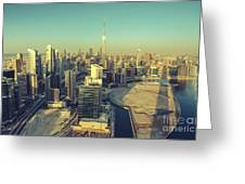 Scenic Aerial View Of Dubai Greeting Card