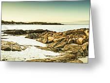 Scenic Coastal Dusk Greeting Card