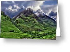 Scenic Glen Coe Greeting Card