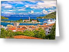 Scenic Island Of Vis Waterfront Greeting Card
