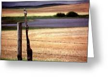 Scenic Saskatchewan Landscape Greeting Card
