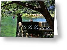 Scenic Tam Coc Boat Tour Greeting Card