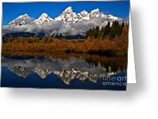 Scenic Teton Fall Reflections Greeting Card