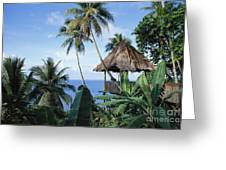 Scenic Thatched Hut Greeting Card