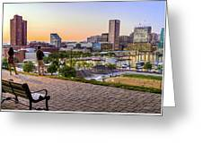 Scenic View From Federal Hill Greeting Card