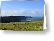Scenic Views Of The Cliff's Of Moher In Ireland Greeting Card