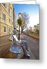 Scenic Zagreb Upper Town Walkway Greeting Card