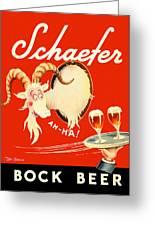Schaefer Beer Vintage Ad Greeting Card