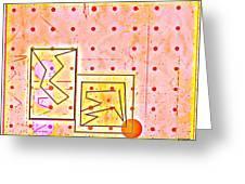 Schematics Of A Nu Love Affair Greeting Card