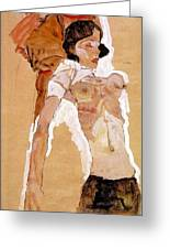 Schiele Semi-nude Girl Reclining 1911 459x311 Cm Egon Schiele Greeting Card