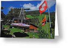 Schilthorn Cable Car Murren Greeting Card