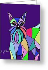 Schnauzer Colors Greeting Card