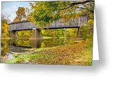Schofield Bridge Over The Neshaminy Greeting Card