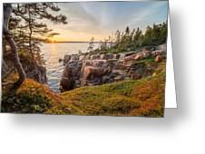 Schoodic Point Sunset Greeting Card