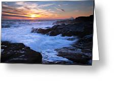 Schoodic Seas Greeting Card by Patrick Downey