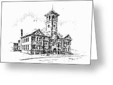 School Historic Philipsburg Montana Greeting Card