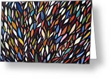 School Of Anchovies Abstract 2 Greeting Card