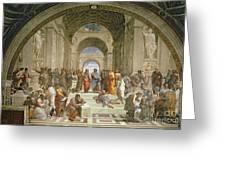 School Of Athens From The Stanza Della Segnatura Greeting Card