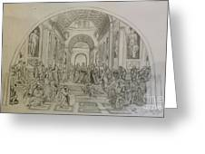 School Of Athens/ Homage To Raphael Greeting Card