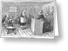 Schoolhouse, 1877 Greeting Card