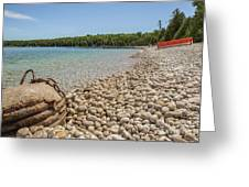 Schoolhouse Beach Washington Island Greeting Card