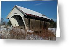 Schoolhouse Covered Bridge Greeting Card