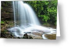 Schoolhouse Falls In Nantahala National Forest Panorama Greeting Card