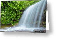 Schoolhouse Falls In Panthertown Valley North Carolina Greeting Card