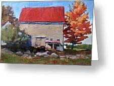 Schoolhouse Farm, Warren, Maine Greeting Card
