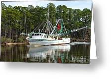 Schrimp Boat On Icw Greeting Card