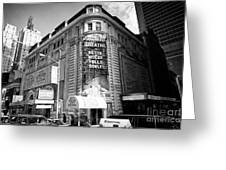 schubert theatre featuring hello dolly New York City USA Greeting Card