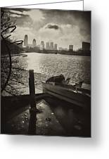 Schuylkill River In Winter Greeting Card