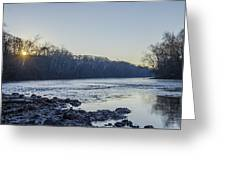 Schuylkill River Sunrise Linfield Pa Greeting Card