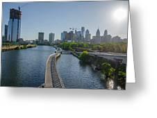 schuylkill River Walk from South Street Bridge Greeting Card