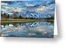 Schwabacher Spring Clouds Greeting Card