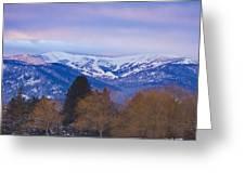 Schweitzer Ski Area Greeting Card