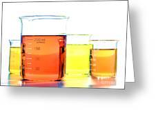 Scientific Beakers In Science Research Lab Greeting Card